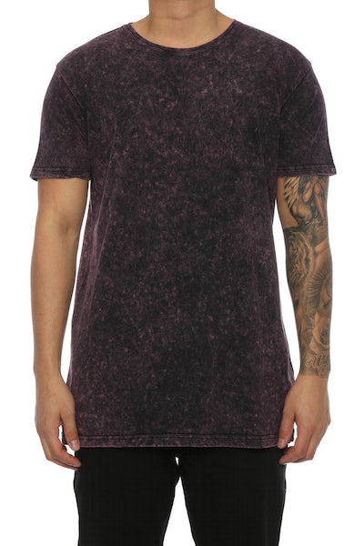 Silent Theory Acid Tall Tee Dark Burgundy