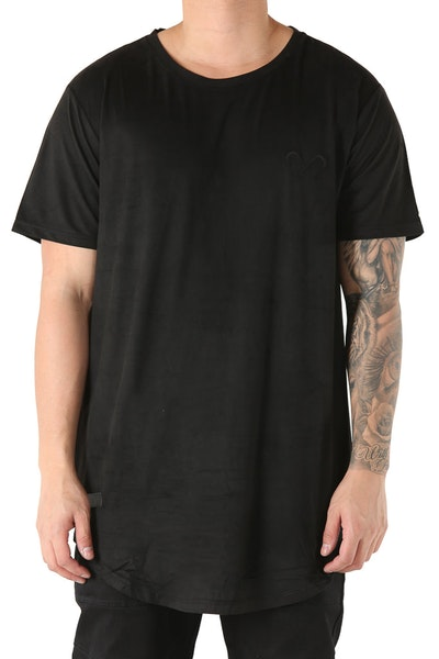 Saint Morta Suede Establo Tee Black