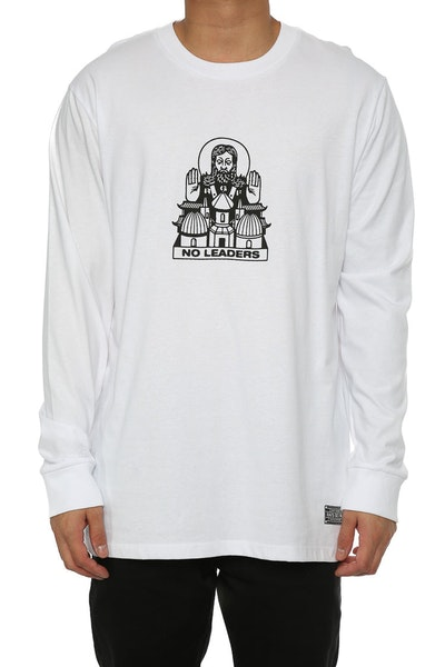 Rats Get Fat Leader LS Tee White