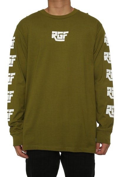 Rats Get Fat DHL LS Tee Army Green