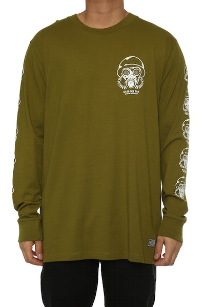 Rats Get Fat Chaos LS Tee Army Green