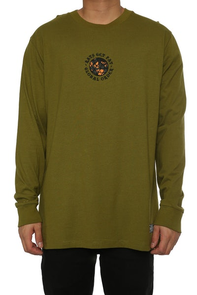 Rats Get Fat Order LS Tee Army Green