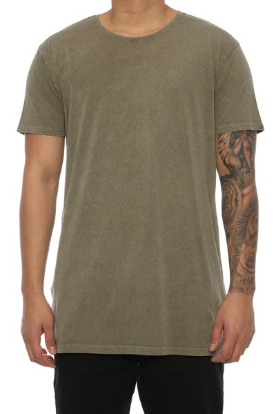 Silent Theory Acid Tall Tee Khaki
