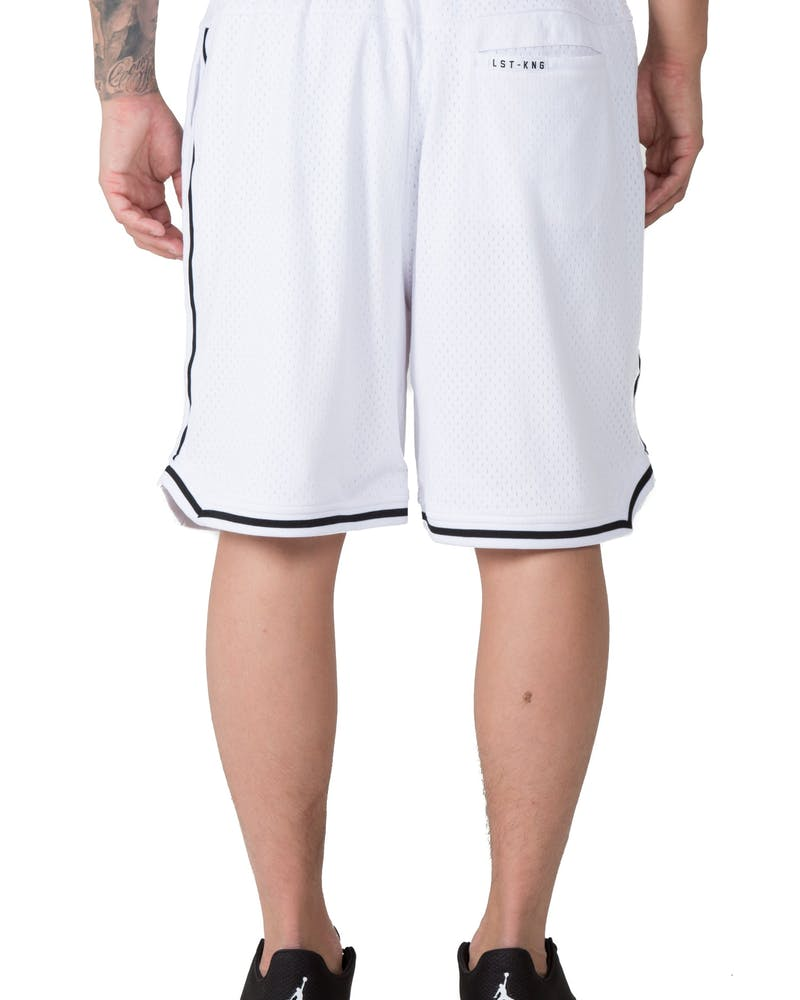 Last Kings Heqa Basketball Short White