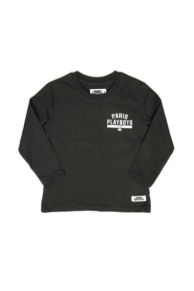 Lil Homme Paris Playboys Long Sleeve Tee Black