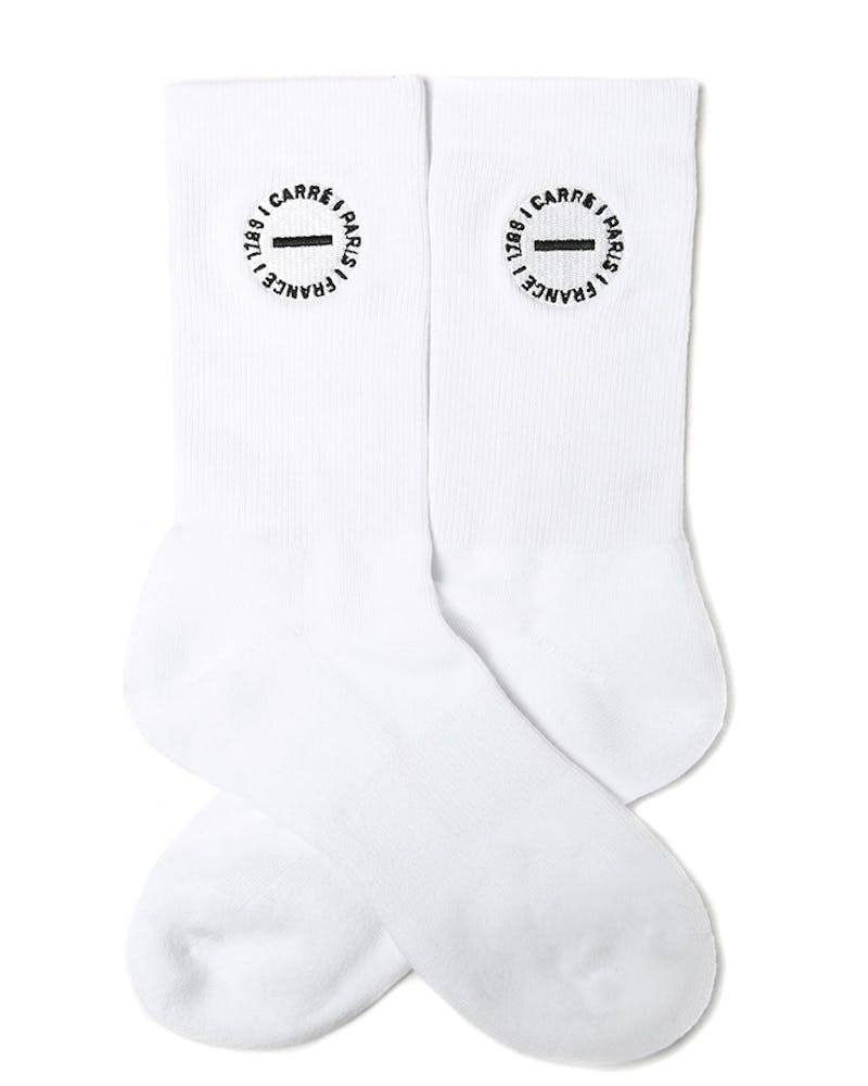 Carré Turn Sock White