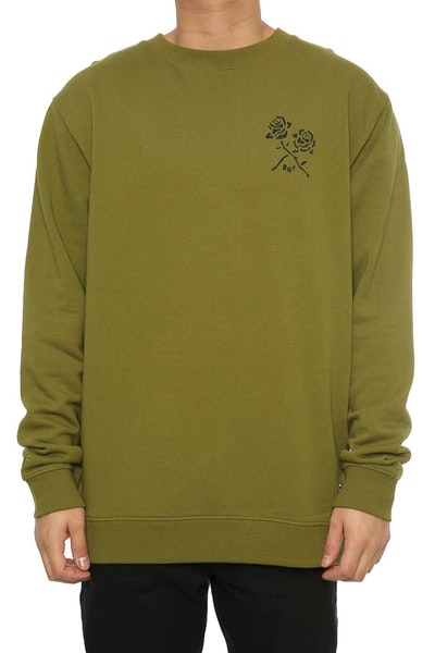 Rats Get Fat For You Crewneck Army Green