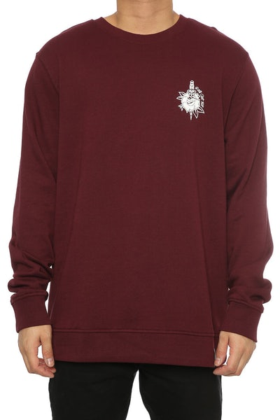 Rats Get Fat Rose & Dagger Crewneck Burgundy