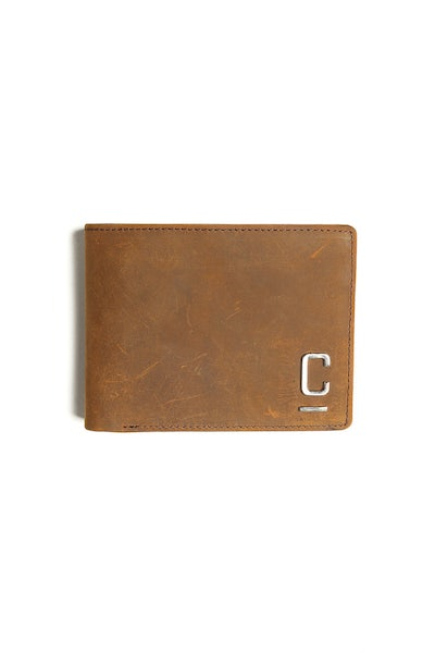 Carré Tresorier Leather Wallet Brown