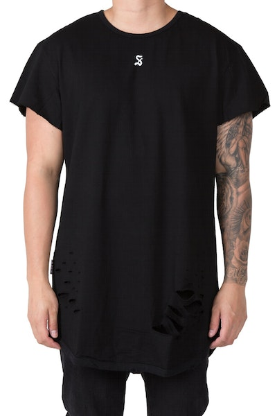Saint Morta Battlefield Cutoff Tee Black