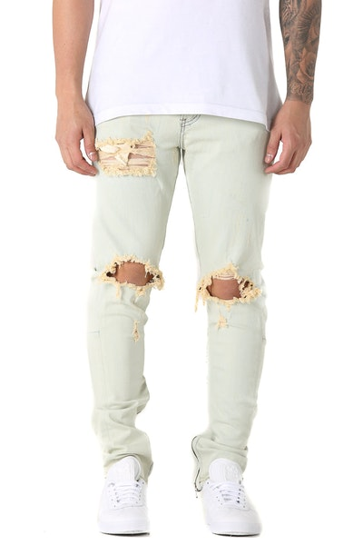 Crysp Denim Pacific Ripped Jean Light Blue