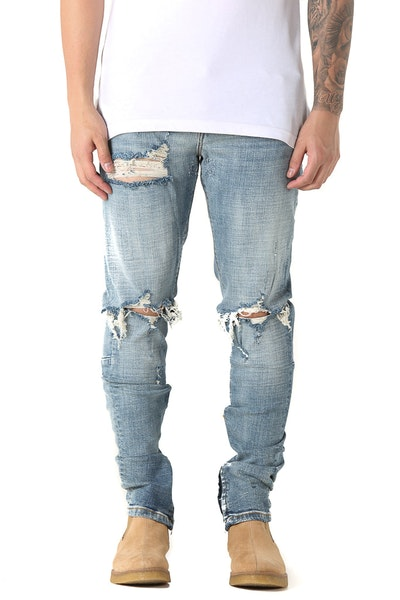Crysp Denim Pacific Ripped Jean Blue