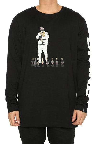 Goat CrewDrizzy Billboard Long Sleeve Tee Black