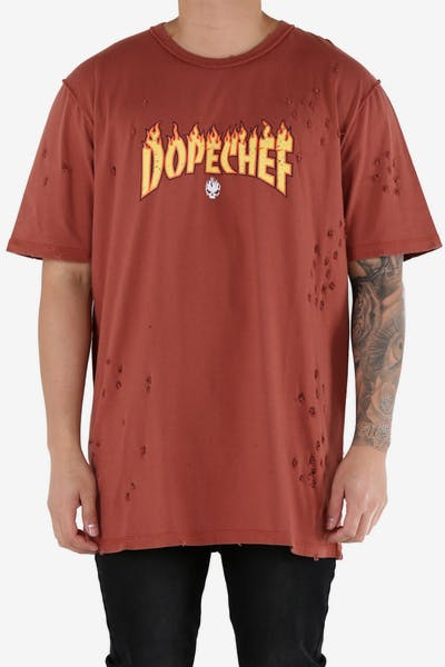 DXPE Chef Dope Flame Tee Rust