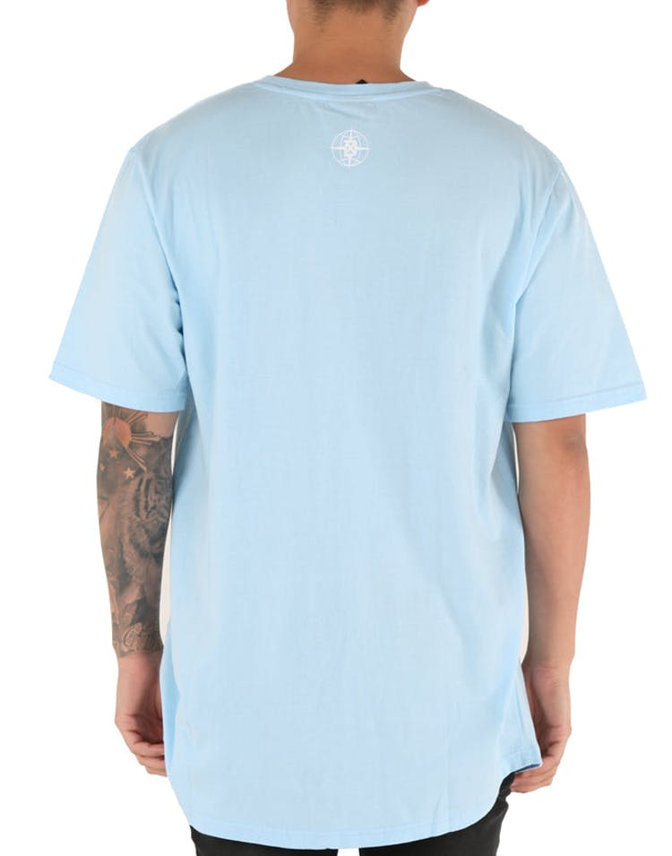 DXPE Chef Signature Pastel Curved Tee Blue