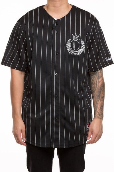 Majestic Athletic X Culture Kings Pinstripe Jersey Black/White