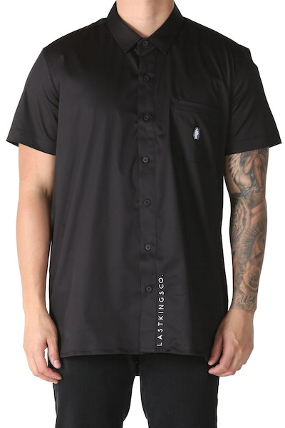 Last Kings Decadence Button Up Shirt Black