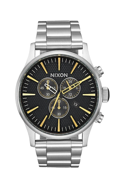 Nixon Sentry Chrono Black Stamped/Gold