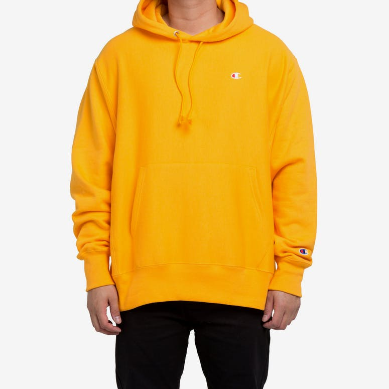 Champion Reverse Weave Hoodie Yellow – Culture Kings bd34b0efc0b4