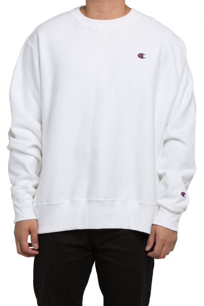 Champion Rev Weave Crew White