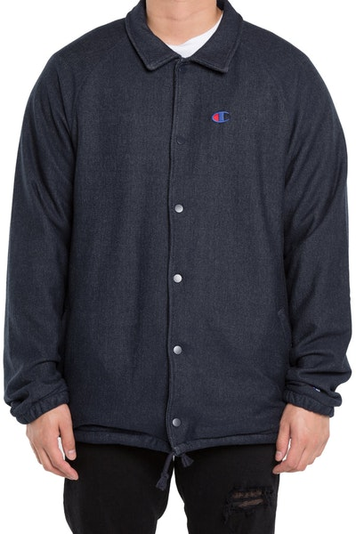 Champion Rev Weave Coaches Jacket Navy