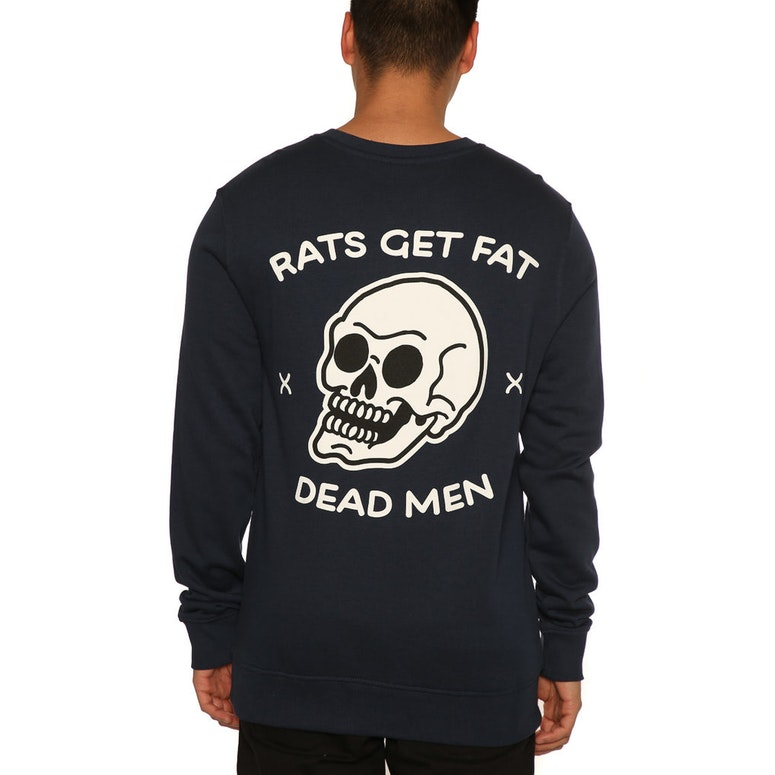 Rats Get Fat Deadman Crew Navy