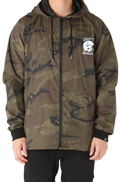Goat Crew Compton Regulators Wind Breaker Jacket Camo