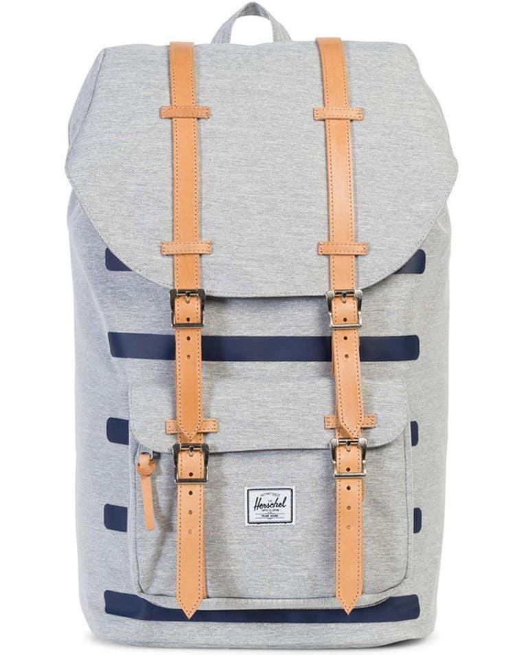 b7db90e7afc Herschel Bag CO Little America Offset Backpack Grey Navy – Culture Kings