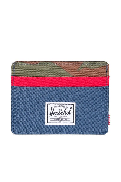 Herschel Supply Co Charlie Wallet Camo/Navy/Red