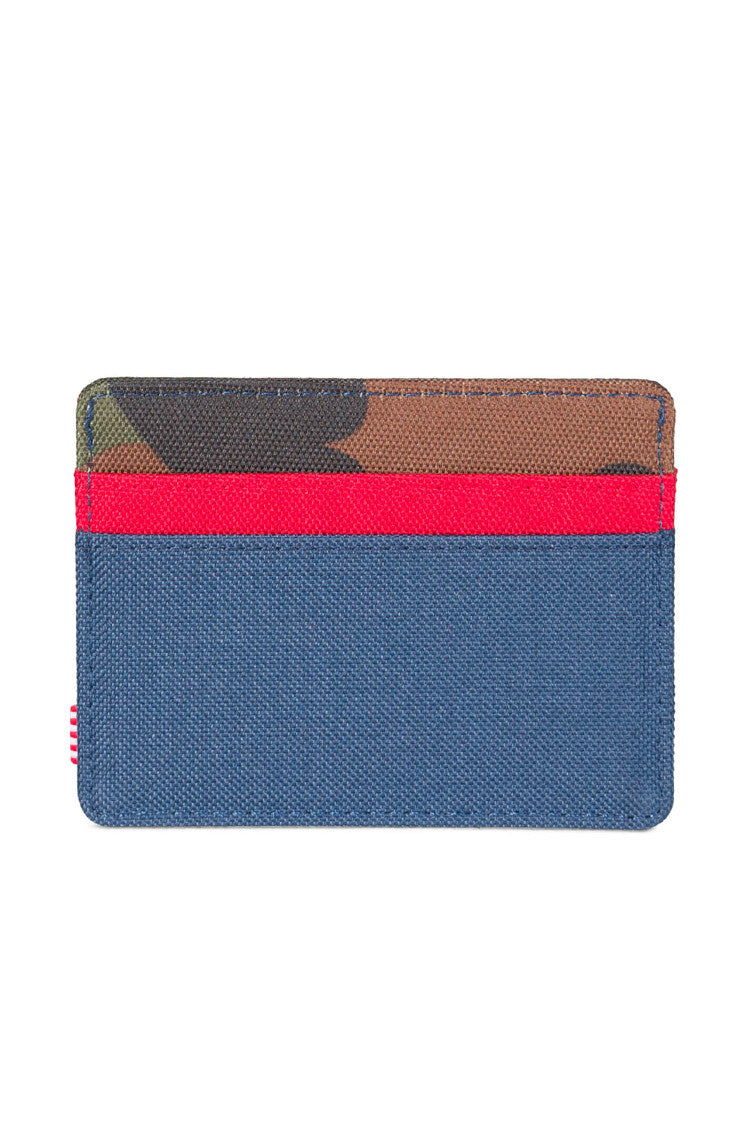 Charlie Wallet Card holder  - Herschel Supply Co Woodland Camo//Navy//Red NWT
