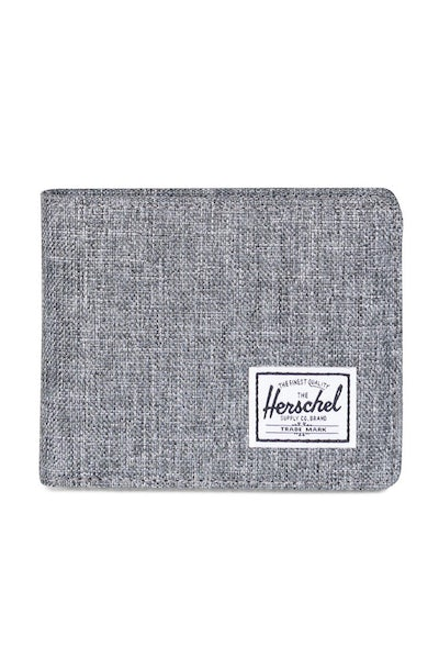 Herschel Supply Co Roy + Coin Crosshatch Wallet Charcoal