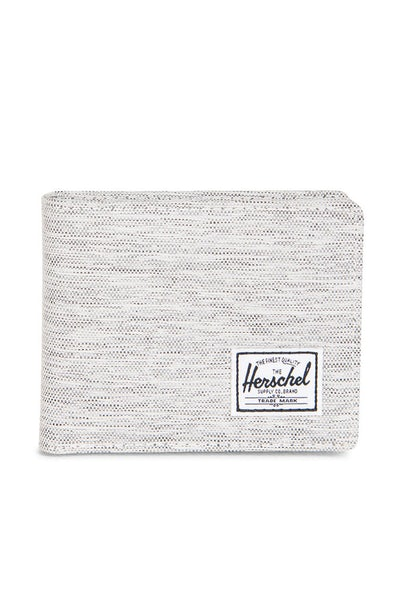 Herschel Supply Co Roy + Coin Crosshatch Wallet Light Grey