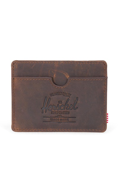 Herschel Supply Co Charlie Leather Wallet Nubuck