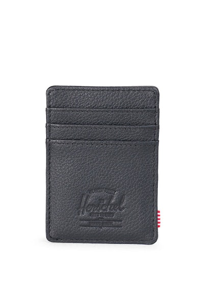 Herschel Supply CO Raven Leather Wallet Black Pebble