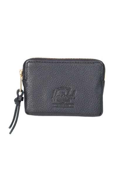 Herschel Supply CO Oxford Leather Pouch Wallet Black Pebble