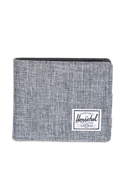 Herschel Supply Co Hank + Coin Crosshatch Wallet Charcoal/Black