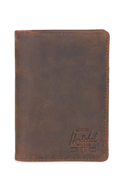 Herschel Supply Co Raynor Leather Passport Holder Nubuck