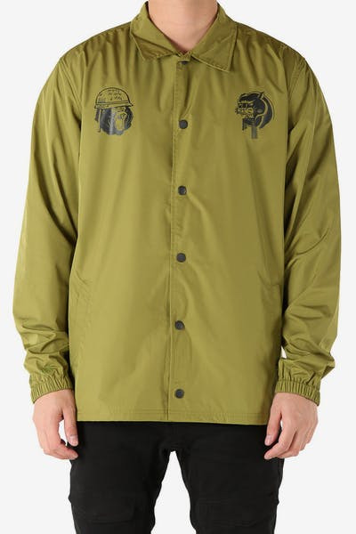 Rats Get Fat A-Squadron Coach Jacket Army Green