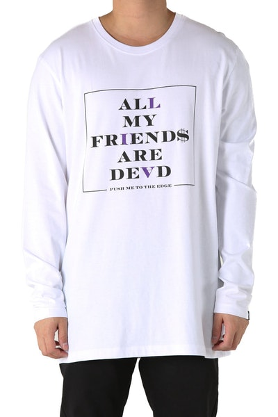 Goat Crew Dead Friends L/S Tee White