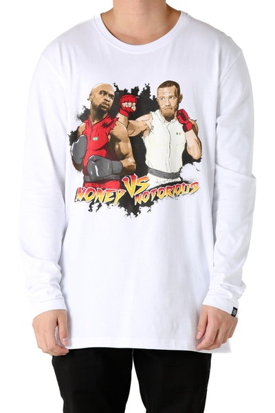 Goat Crew Money Vs Notorious L/S Tee White