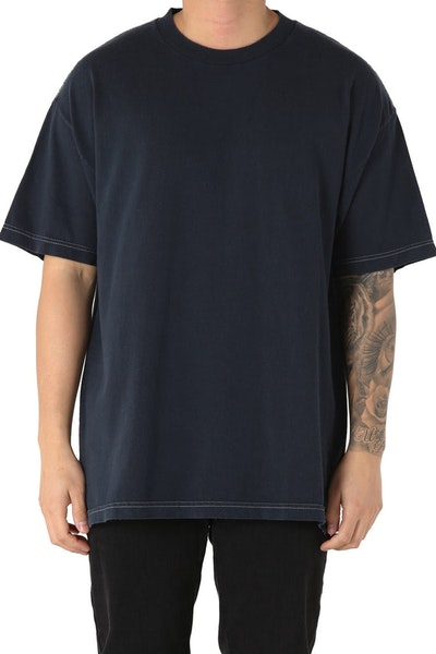 EPTM Embroidery Rose Box Tee Navy