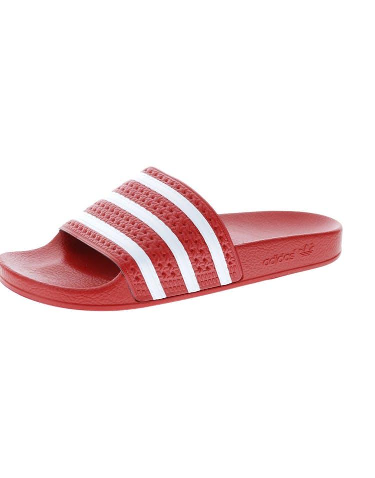0cbd0ad9d259 Adidas Originals Adilette Slide Red White