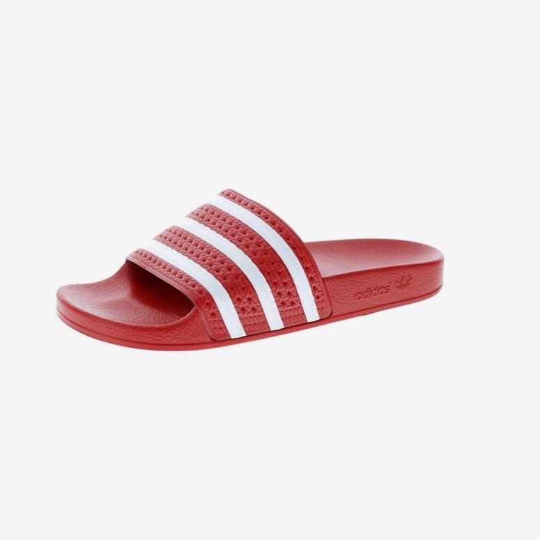 3189cb9dce0b04 Adidas Originals Adilette Slide Red White