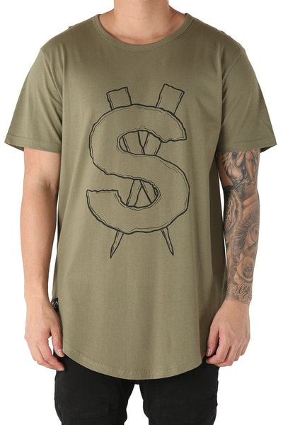 Saint Morta Riche$ El Duplo SS Tee Pale Green