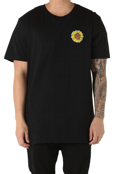 Goat Crew Flower Boy Tee Black