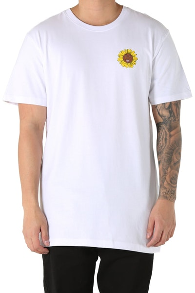 Goat Crew Flower Boy Tee White