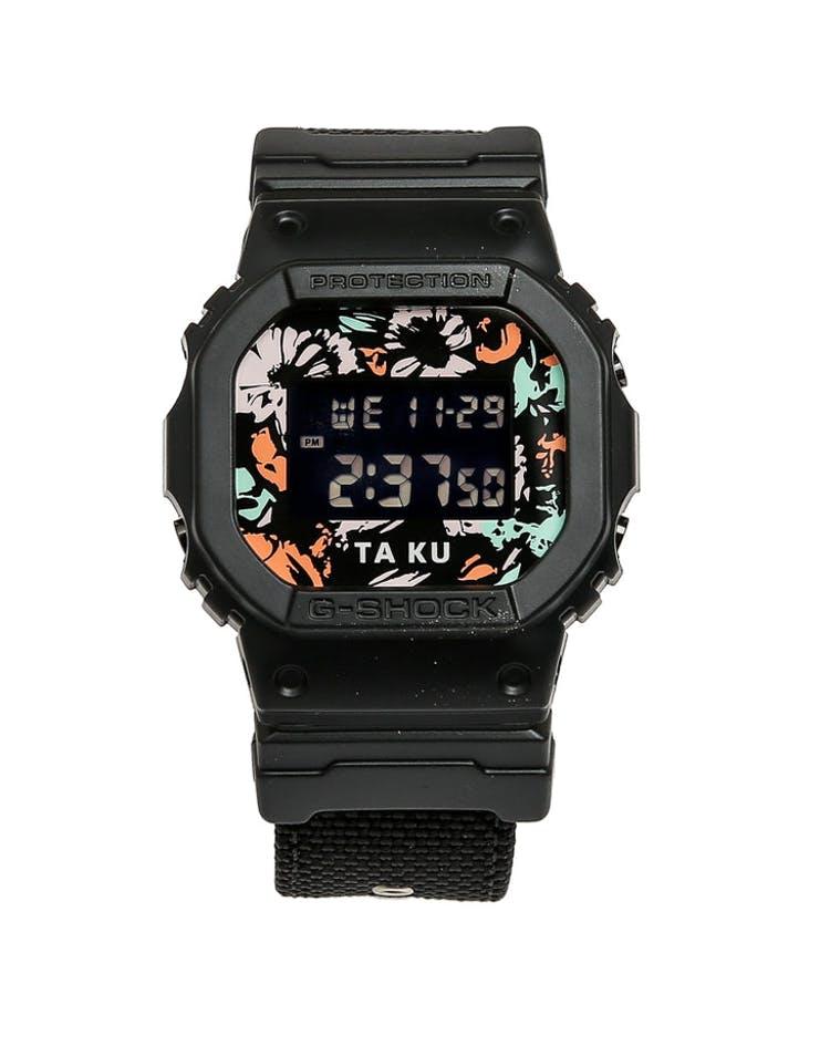 G Shock X Ta Ku Collaboration Dw5600 Black Multi Coloured Culture