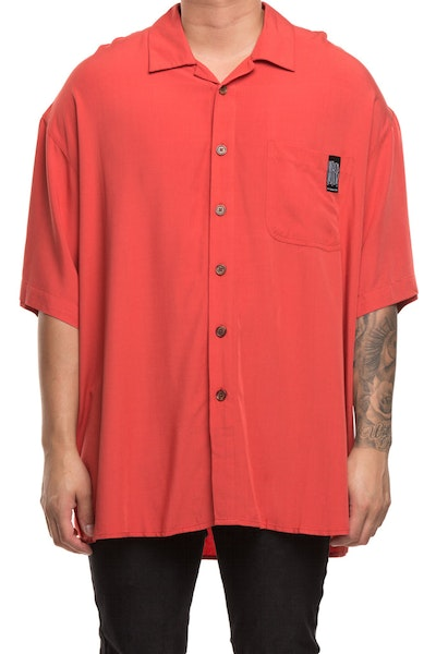 Loiter NYC Oversized Button Up Red