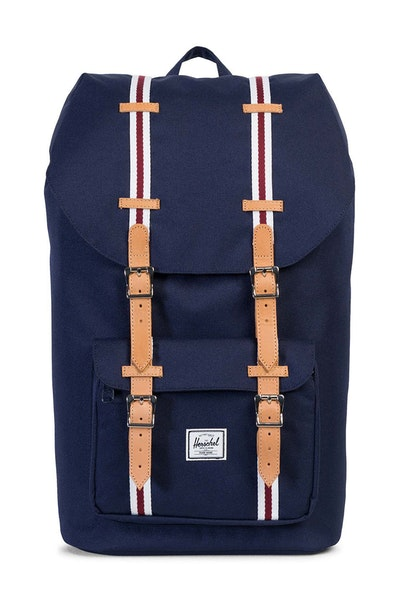 Herschel Bag Co Little America Navy/Red/Tan