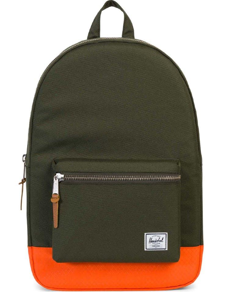 5d8d9ac052a Herschel Bag Co Settlement Backpack Green Orange – Culture Kings